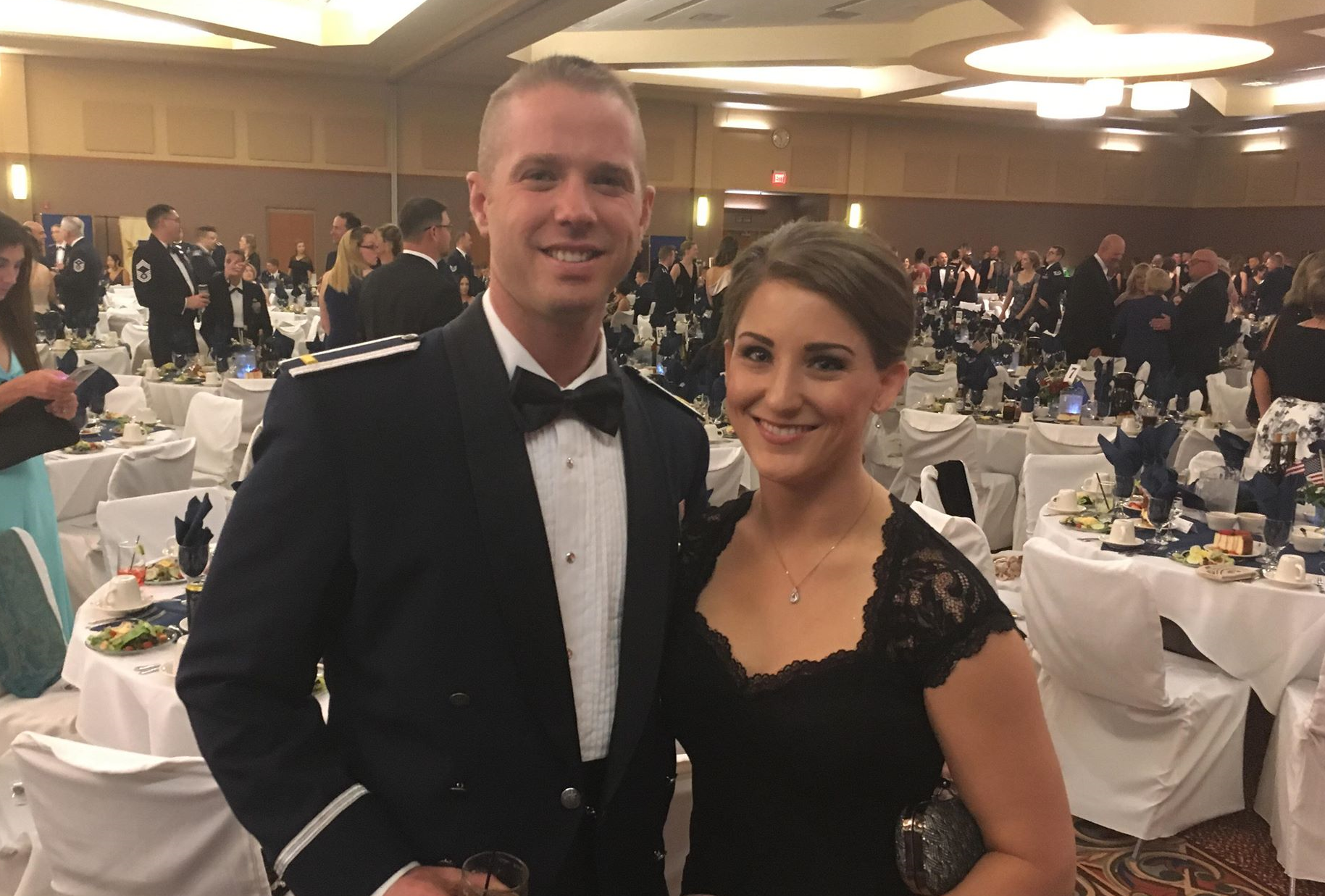 NewsCenter1's Samantha Chadwell attends the Ellsworth Air Force Ball on Sept. 22, 2018.
