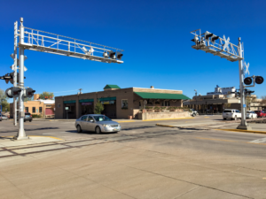 Seventh Street at the railroad crossing near Apolda Street will close Tuesday, Oct. 23 for some adjustment and repair work. The road is expected to reopen on Wednesday, Oct. 24. Photo Date: Oct. 18, 2018.