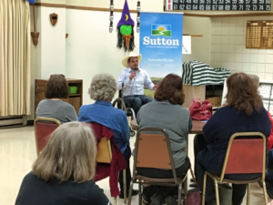 Democratic candidate for governor Billie Sutton made a swing through West River South Dakota Friday to talk to potential voters in the run-up to the Nov. 6 election. Photo Date: Oct. 26, 2018.