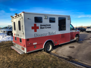 The American Red Cross serving Central and Western South Dakota has received a $100k grant. Three-quarters of that money is earmarked to help purchase a new Emergency Response Vehicle. Photo Date: Dec. 14, 2018.
