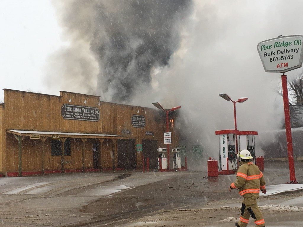 Fire breaks out at Pine Ridge Trading Co. - KNBN NewsCenter1