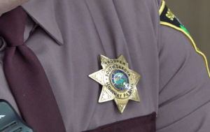 A badge worn by a South Dakota State Trooper. The South Dakota Highway Patrol is looking for trooper candidates for its next recruit class this fall. Photo Date: Jan. 24, 2019.