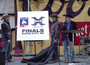 Ron Jefferies, general manager of the Central States Fair, announces that PRCA Xtreme Broncs Finals will come to Rapid City on Aug. 22. Photo Date: Jan. 30, 2019.