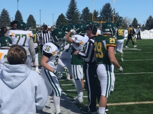 Image of Black Hills State football players