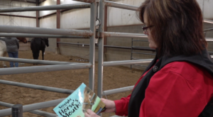 Bridget shows therapy book
