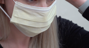 Face mask used for those with symptoms