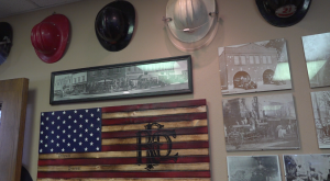 Rod Seals, office wall at RCFD