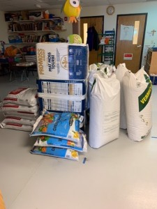 Materials for building garden at DSECC, courtesy Facebook