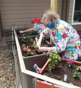 Residents gardening, courtesy Westhills Village