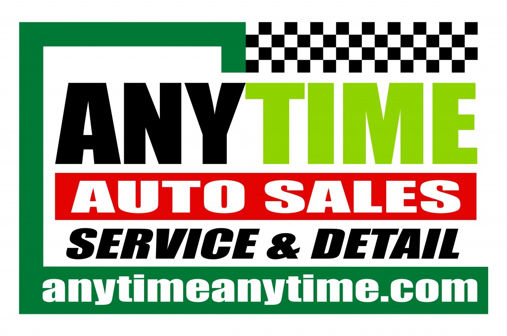 2019 Anytime Auto Sales Service And Detail Logo
