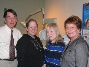 A Northern Plains Eye Foundation Gift of Sight recipient (Miriam Martin, 2nd from left)