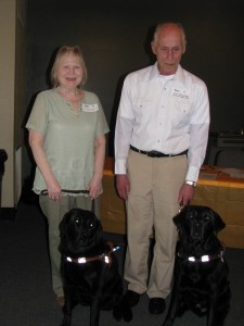 Julaine & husband Ken with dogs Sara & Wagner
