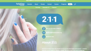 211 Helpline is the center for resources during COVID-19