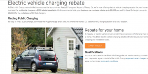 BHE Electric Vehicle Rebate
