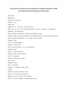 911 Call Transcribed Pdf Page 1