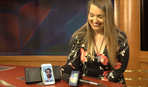 Brandee with Alex on Facetime