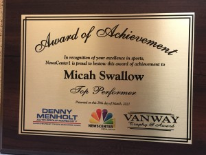 Micah Swallow Top Performer