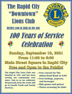 Lions 100 Years Celebration Flyer